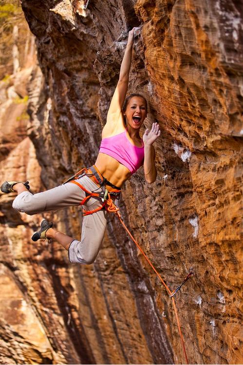 female extreme climber and - photo #1